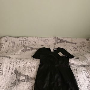 Black dress the with tag